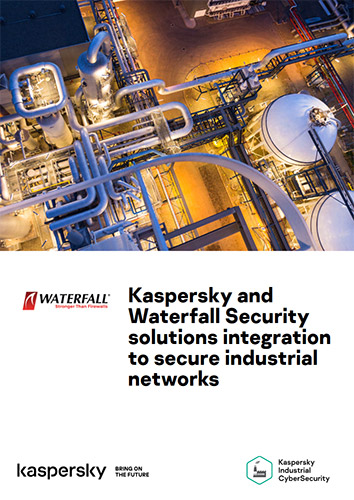 Kaspersky and Waterfall Security solutions integration to secure industrial networks